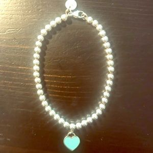 Authentic Tiffany & Co bracelet with heart 💙